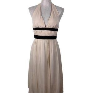 BCBG Paris Dress Silk Blush Pink Halter Size 6